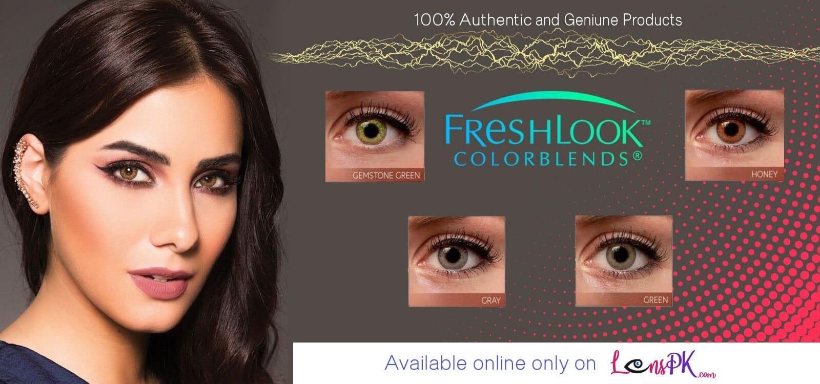 Buy Freshlook Colorblends Contact Lenses Online - lenspk.com