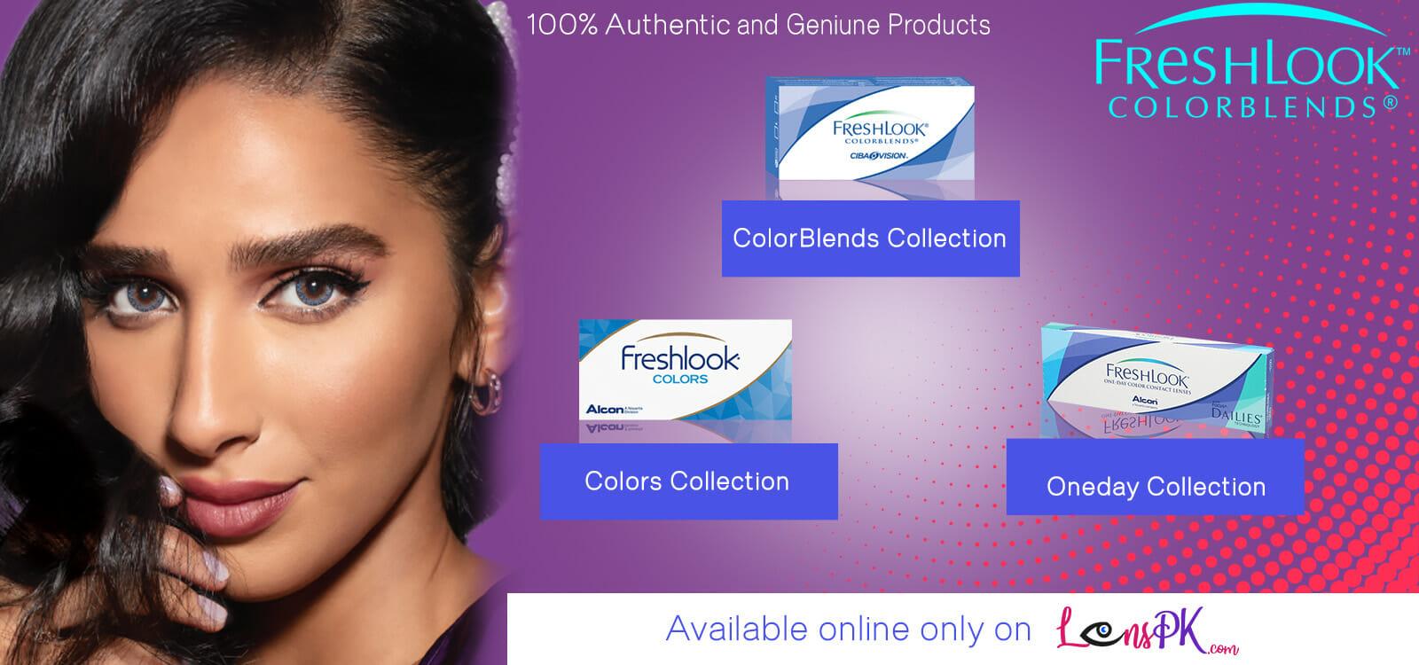 Buy Freshlook Contact Lenses Complete Collection Online - lenspk.com