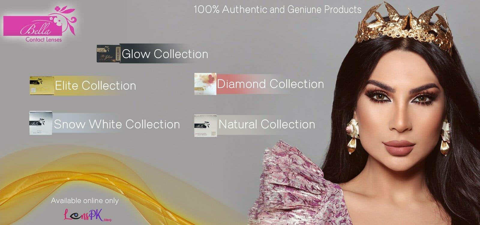 Buy Complete range of Bella Contact Lenses Online - lenspk.com