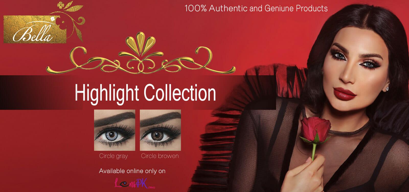 Buy Bella Highlight Collection Contact Lenses - lenspk.com