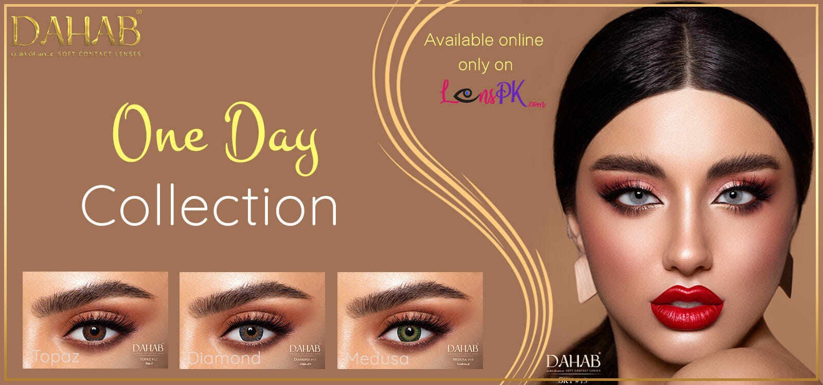 Buy Dahab Contact Lenses - One Day Collection - lenspk.com