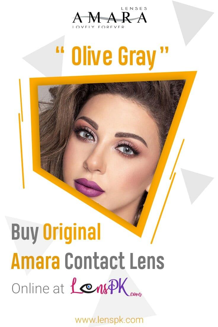 Olive Gary Amara Eye Lenses