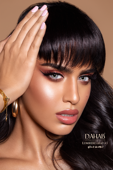 Buy Dahab Lumirere Gray Contact Lenses - One Day Collection - lenspk.com