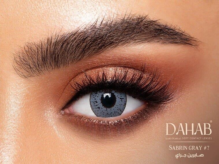 Buy Dahab Sabrin Gray Contact Lenses - Gold Collection - lenspk.com